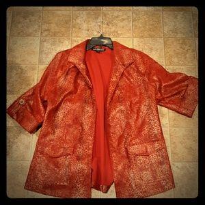 Linear Women's 3/4 Sleeve Open Jacket Cardigan.
